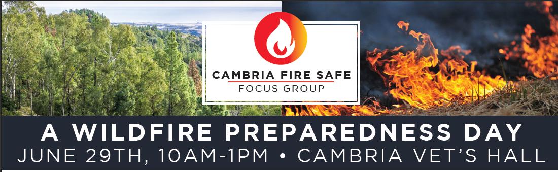 Cambria Fire Safe-Wildfire Preparedness Day[header